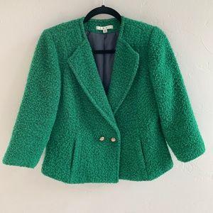 cAbi Ivy Green Cropped Blazer Jacket 6